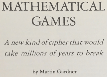 Detail of Gardner's publication in Scientific American